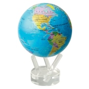 MOVA 4.5'' Blue Oceans with Political Map Globe