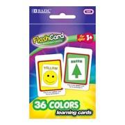 Bazic Colors Preschool Flash Cards; Case of 24