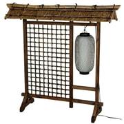 Oriental Furniture 48'' x 51'' Bamboo Tree Tall Lantern Room Divider