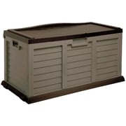 Starplast 103 Gallon Deck Storage Box with Seat; Mocha / Brown