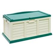 Starplast 71 Gallon Plastic Deck Box; Beige / Green