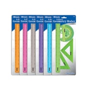 Bazic 5-Piece Geometry Ruler Combination Sets; Case of 144