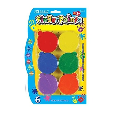 Bazic Finger Paint (Set of 6); Case of 12