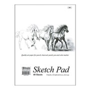 Bazic Premium Sketch Pad (Set of 48); 9'' x 12''