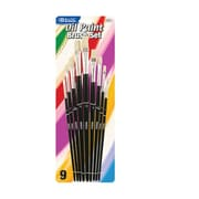 Bazic Assorted Size Oil Paint Brushes (Set of 9); Case of 12