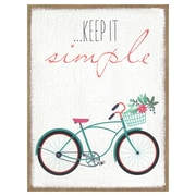 Stratton Home Decor ''Keep It Simple'' Graphic Art