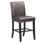 Powell 24'' Bar Stool with Cushion; Bronze