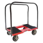 Snap-Loc 40.5'' x 20.5'' x 35'' All-Terrain Panel Cart Dolly With Optional E-Strap Attachment; Red