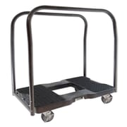 Snap-Loc 39'' x 20.5'' x 35'' Panel Cart Dolly With Optional E-Strap Attachment; Black