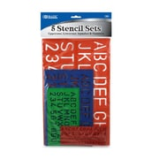 Bazic Lettering Stencils (Set of 4); Case of 144