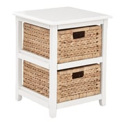 OSP Designs Seabrook 16.5'' Storage Unit; White & Natural