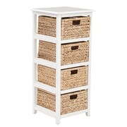 OSP Designs Seabrook 15.5'' Storage Unit; White & Natural