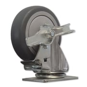 Snap-Loc TPR Solid Wheel Swivel Caster With Brake