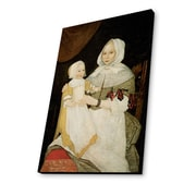 Lamp-In-A-Box Mrs. Elizabeth Freake and Baby Mary 1674 by Freake Limner Painting Print Plaque