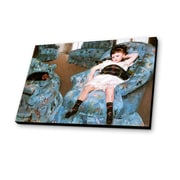 Lamp-In-A-Box Little Girl in a Blue Armchair 1878 by Mary Cassatt Painting Print Plaque
