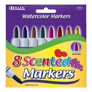 Bazic 8 Color Scented Jumbo Watercolor Marker Set; Case of 144