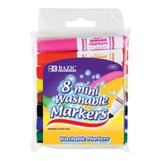 Bazic 8 Color Broad Line Mini Washable Marker Set; Case of 24