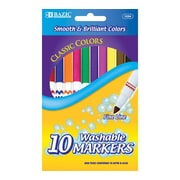 Bazic 10 Color Fine Line Washable Marker Set; Case of 24