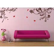 Pop Decors Beautiful Flower Vines Wall Decal