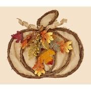 Worth Imports Hanging Burlap/Twig Pumpkin Decor