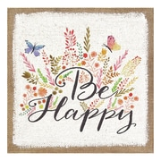 Stratton Home Decor ''Be Happy'' Graphic Art