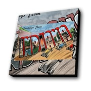 Lamp-In-A-Box Greetings from Indiana Cars Painting Print