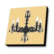 Lamp-In-A-Box Chandelier with Beige Background Painting Print