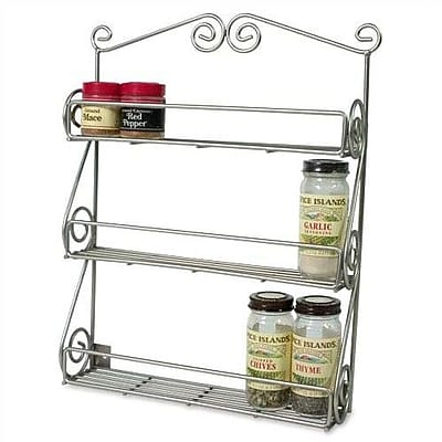 Spectrum Diversified Scroll Wall-Mounted Spice Rack in