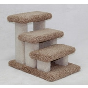BeatrisePetProducts Doggie Carpeted 3 Step Pet Stair