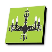 Lamp-In-A-Box Chandelier with Lime Background Painting Print