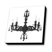 Lamp-In-A-Box Chandelier with White Background Painting Print