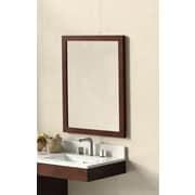 Ronbow Contemporary Solid Wood Framed Bathroom Mirror in Dark Cherry
