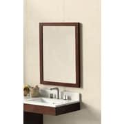 Ronbow Contemporary Solid Wood Framed Bathroom Mirror in Dark Cherry