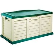 Starplast 103 Gallon Deck Storage Box with Seat; Beige / Green