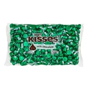 Hershey's Kisses w/ Green Foil, Chocolate, 66 oz (246-00087)