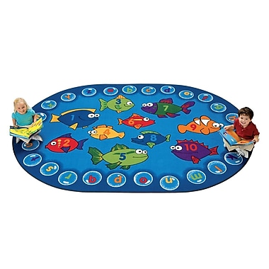 Carpets for Kids Literacy Fishing Kids Area Rug; Oval 6' x 9'
