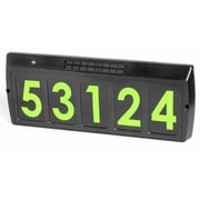 Gama Sonic Solar Charged Address Plaque; Green