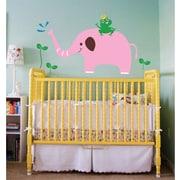 Pop Decors Elephant, Frog Removable Vinyl Art Wall Decal
