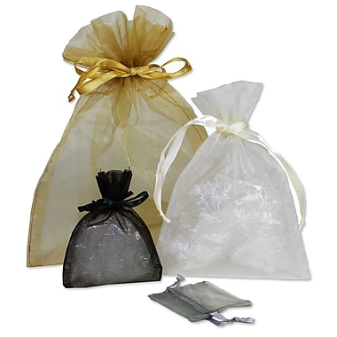 B2B Wraps Organza Bags Basic with Satin Draw String, 8 x 10