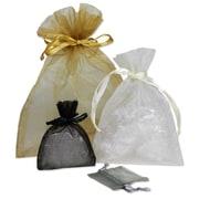 B2B Wraps Organza – Sacs de base avec cordon de serrage en satin, 3 x 4 po, 20/paquet