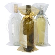 B2B Wraps Organza – Sacs de base avec cordon de serrage en satin, 6 1/2 x 15 po, 20/paquet