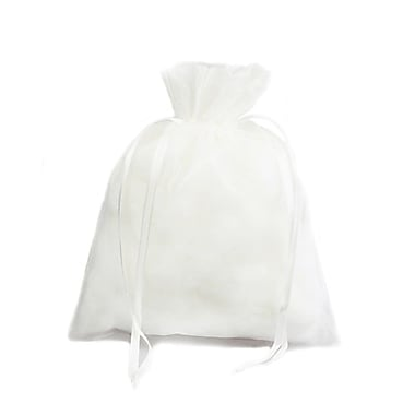 B2B Wraps Organza Bags Basic with Satin Draw String, 3 x 4
