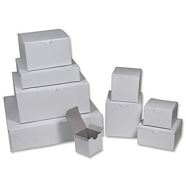 B2B Wraps – Boîte-cadeau 1 pièce, blanc lustré, 6 x 6 x 4 (po), paq./25