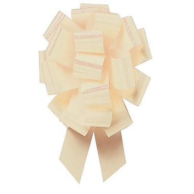 B2B Wraps Perfect Bows Flora Satin, Ivory 3K05, 5 1/2