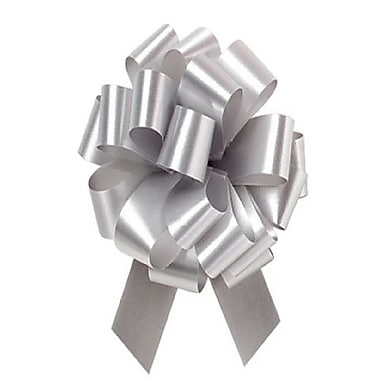 B2B Wraps Perfect Bows Flora Satin, Silver 3K05, 5 1/2