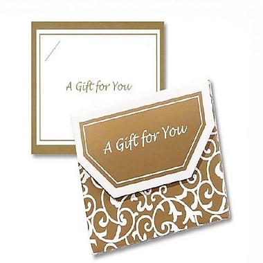 Porte-cartes pliables Nashville avec fermetures velcro, 4 1/2 x 3 1/2 x 3/8 po, style parchemin élégant doré, 12/paquet