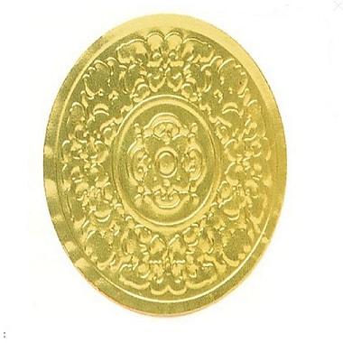 Médaillons de type « Nashville » sur feuille gaufrée en aluminium, 1 1/2 po de diamètre, 500/paquet, or