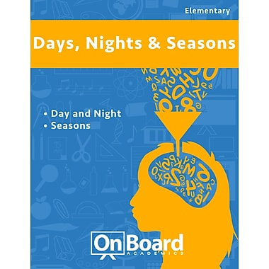 eBook: Days, Nights and Seasons for Elementary Students , 2 Topics (PDF version, 1-User Download), ISBN 9781630960872