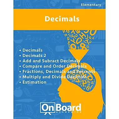 eBook: Decimals for Elementary Students, Grades 4-6 , 7 Topics (PDF version, 1-User Download), ISBN 9781630960803