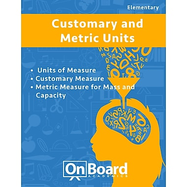eBook: Customary and Metric Units for Elementary Students, Grades 4-6 , 3 Topics (PDF version, 1-User Download)